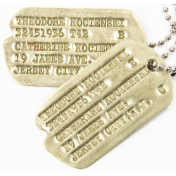 Dog Tags, 1st type Monel,