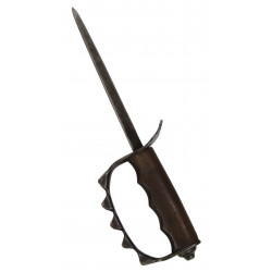 Knife, Trench, M-1917 + leather scabbard