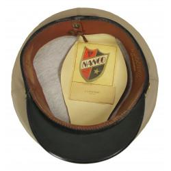Cap, Officer, US Navy, beige oil cloth