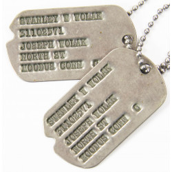 Plaques d'identité, Dog Tags, T/4. L.H. Hoglund, Hq. Co, 331st Inf, 83rd Inf. Div.