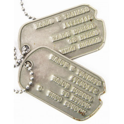 Dog Tags, Stanley Wolak, Battery C, HQ, 218th FA Rgt., Pacific