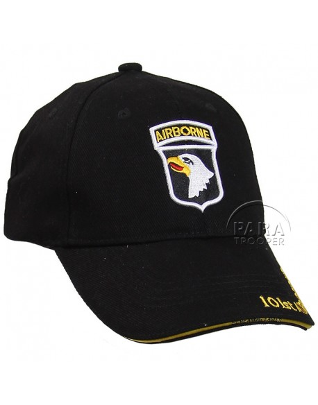 Casquette 101e Airborne, Screaming Eagles, noire