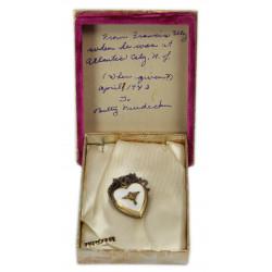 Pendentif, Sweetheart, USAAF, identifié