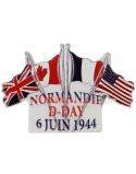 Magnet D-Day drapeaux, résine