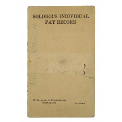 Soldier's individual pay record, named, USAAF