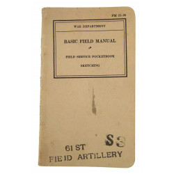 Basic Field Manual FM 21-35, Sketching, 1939