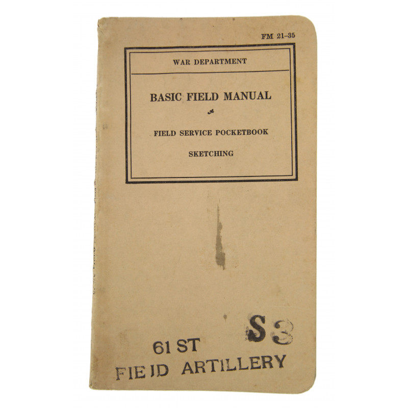 Basic Field Manual FM 21-35, Sketching, 1939