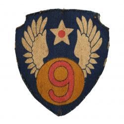 Insigne, 9e Air Force, imprimé, British Made