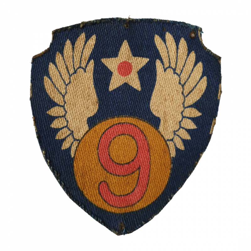 Patch, 9th Air Force insignia, printed, British Made