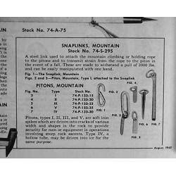 Piton, Climbing, Mountain troops, Type V, FSSF