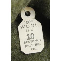 Gloves, Wool, OD, Size 10