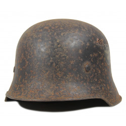 Helmet, M-1942, Waffen-SS, Camouflaged, Normandy