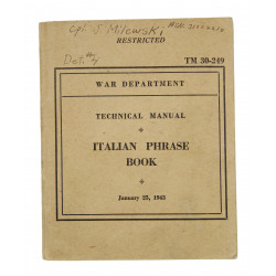 Manual, Technical, TM 30-249, Italian Phrase Book, 1943, named