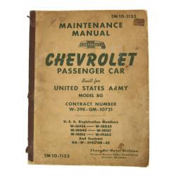 Technical Manual TM 10-1133, CHEVROLET Passenger Car, 1941