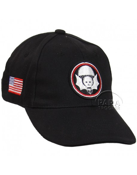 Cap, Baseball, 502nd PIR, 101st Airborne, black