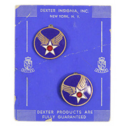 Pair of Distinctive Insignia, USAAF, pin back