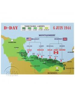 Post card, D-Day landing 1944