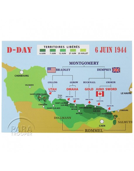 Post card, D-Day landing 1944