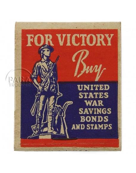 Boite d'allumettes US VICTORY