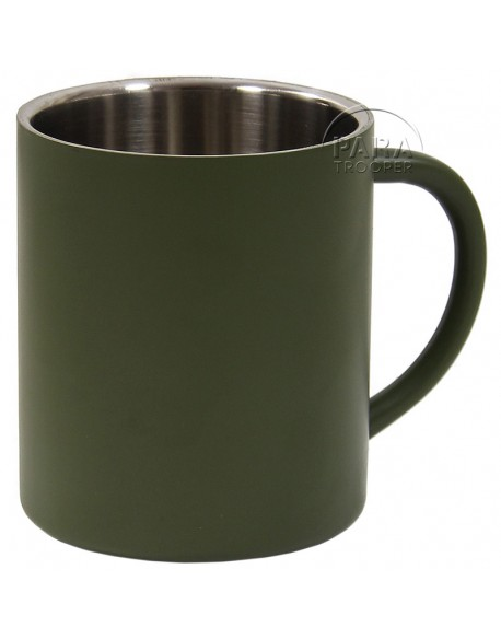 Cup, metal, khaki