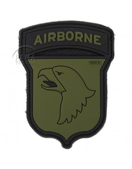 Insigne tactique PVC 3D, 101e Airborne, OD