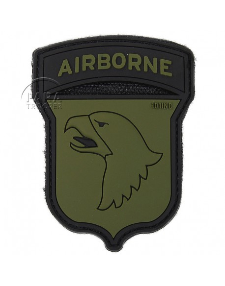 Patch, 101st Airborne Division, PVC, green