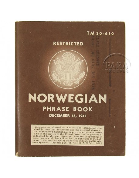 Livret Norwegian Phrase Book, 1943