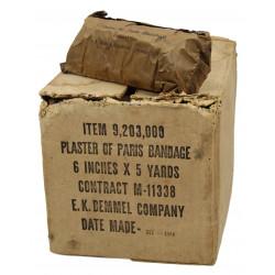 Bandage, plaster of Paris, item No. 9,203,000, 1944, Normandy