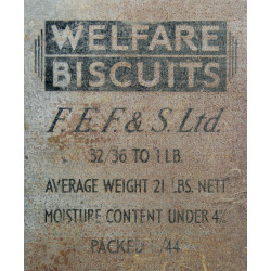 Tin, Welfare Biscuits, FULL, 1944, Normandy