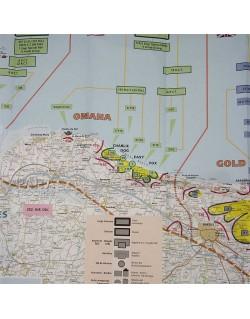 Carte IGN Normandie Jour-J, 6 Juin 1944