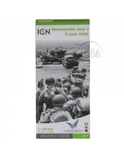IGN Map, D-Day Normandy, June 6 1944