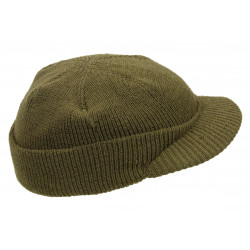 "Cap, Wool Knit ""Beanie"", Jeep Cap, Large, 2nd Lt. Julia Fossler"