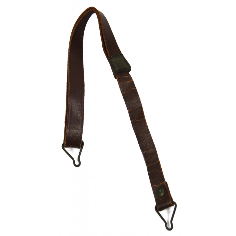 Strap, Leather, for M1 helmet, green buckles