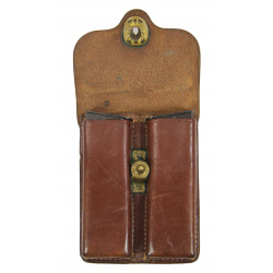 Pouch, Magazine, for 1911 pistol, leather,Military Police