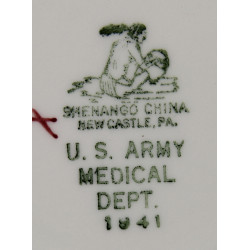 Plate, China, US Army Medical Department, 1941