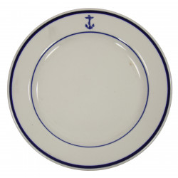 Plate, China, US Navy, Officers' Mess (Wardroom)