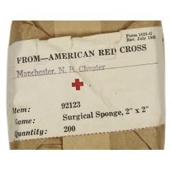 Compresses chirurgicales, Item No. 92123, ARC, 1942
