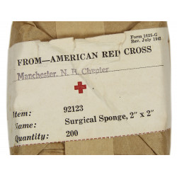 Sponge, Surgical, Item No. 92123, ARC, 1942