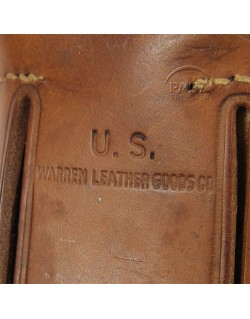 Holster, Belt pistol, Colt .45, Warren Leather Goods Co.