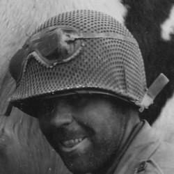 Net, helmet, Schrimp Type, 1944, 3rd ID Style