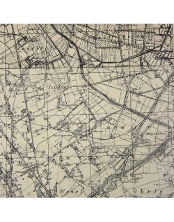 Map, Wesel, 17th AB Div.