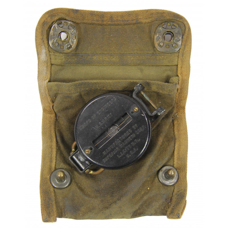 Compass, Superior Magneto, with OD Canvas Pouch, Normandy