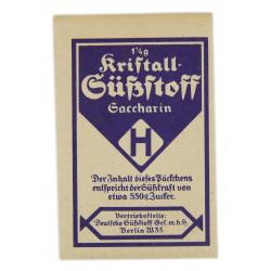 Sugar (saccharin), German
