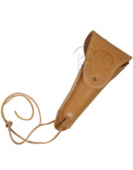Holster, Belt, Pistol, Natural leather