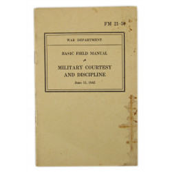 Manual, Field, Basic, FM 21-50, Military Courtesy and Discipline, 1942
