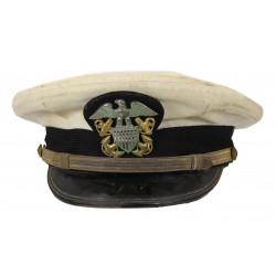 Casquette officier, US Navy, blanche