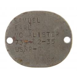 Plaque d'identité USMC, Finger Printed