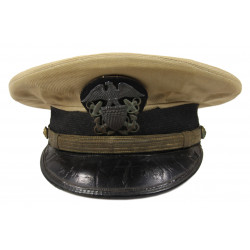 Casquette officier, US Navy, beige