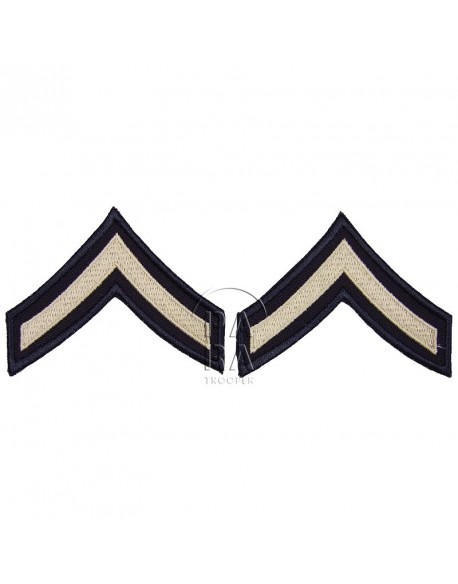 Grades en tissu de Private First Class