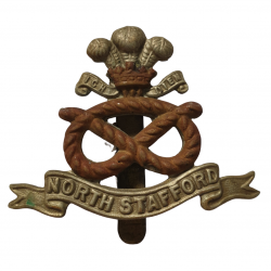 Cap Badge, North Staffordshire Regiment, Normandie